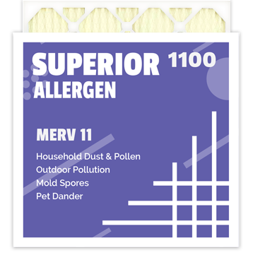 Superior Allergen 1100 Merv 11 Air Filter